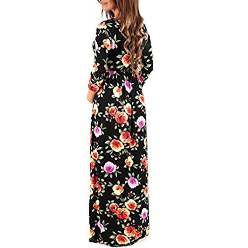 en Siete vestidos de Adeshop embarazadas Nuevas mujeres 2018 impresi v con mangas Fashion cuello SHUTUfz