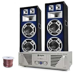 """Equipo DJ-PA """"Bass TiTan"""" – amplificador altavoces 1600W"""