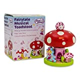 Lucy Locket Fairy Tale Toadstool Wooden Music Box Ornament - Kids Musical Box (plays Love Story)