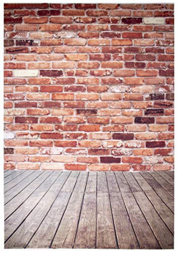 Juvale Rustic Red Brick Backdrop - Wall Background for Photography Studio, Party Photo Booth, Wedding, 6 x 8 Feet (Width x Length)]()