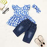 Kionio Baby Girl Clothes Jeans Sets Toddler Ruffled