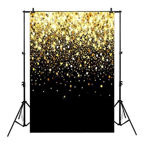 (CapiSco 5X7FT Photo Background Golden Shiny Glitter Background for Wedding Vinyl Photography for Newborn Party Backgrounds for Photo Studio SCO11)