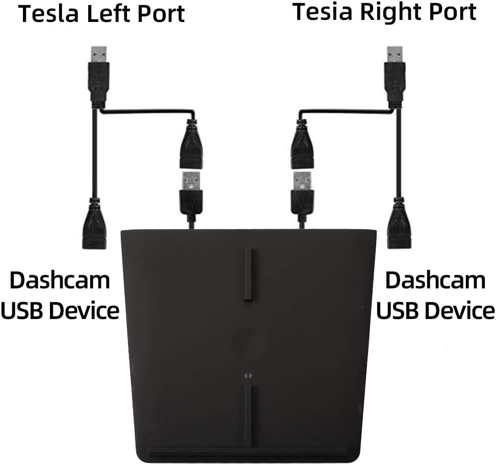 Dasbecan Tesla Model 3 Interior Accessories Wireless Dual Charger Adapter for Qi Smartphone Charging Pad No Software Issue Upgraded