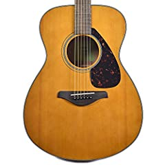 """Special limited edition """"Tinted"""" natural top version of the top-selling Yamaha FS800 concert acoustic guitar. Yamaha's standard acoustic model, with simple and traditional looks and outstanding quality, at an affordable price. A solid-top gui..."""