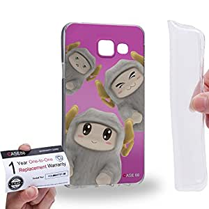 Case88 [Samsung Galaxy A3 (2016)] Gel TPU Carcasa/Funda & Tarjeta de garantía - 3D Visual Design Sheepy B 3D Animals Art2074