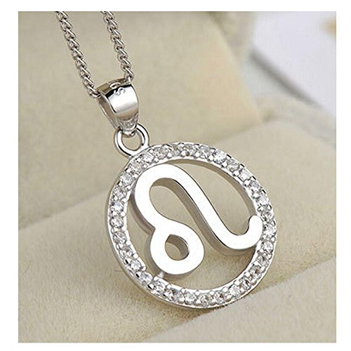 Yuriao Jewelry Elegant Fashion Love Diamond Accented Twelve Constellation Leo Pendant (Homemade Lobster Costume Baby)