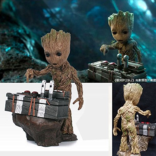 Guardians of the Galaxy Vol.2 Push Bomb Button Baby Groot Figure Statue Toy US A