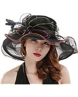 Saferin? Women's Organza Church Kentucky Derby Cap British Tea Party Wedding Hat