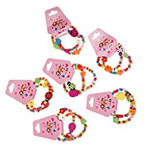 MagiDeal Pack of 12 Beatle Girls Bracelets Party Bag Fillers Toy Favor Lucky Pinata Prizes
