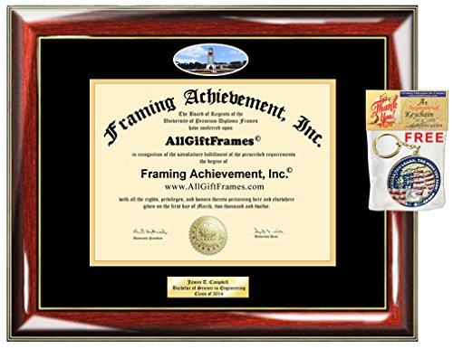 Diploma Frame University Arkansas Fort Smith UAFS Graduation Gift Idea Engraved Picture Frames Engraving Degree Certificate Holder Graduate Him Her Nursing Business Engineering Education School