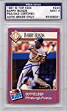 Barry Bonds Pittsburgh Pirates PSA/DNA Certified Authentic Autograph - 1991 SI For Kids (Autographed Baseball Cards)