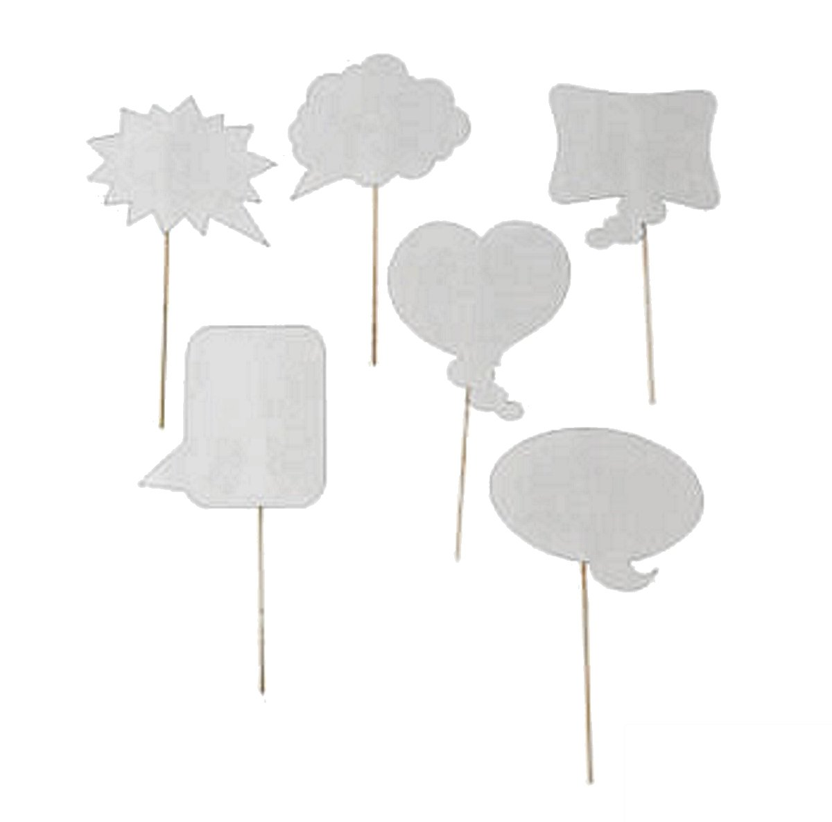 Wedding Photo Booth Props, Dry Erase Bubble Speech Photo Booth Props Attached to the stick, Wedding decorations, Birthday party photo props, 4E's Novelty® by 4E's Novelty (Image #2)