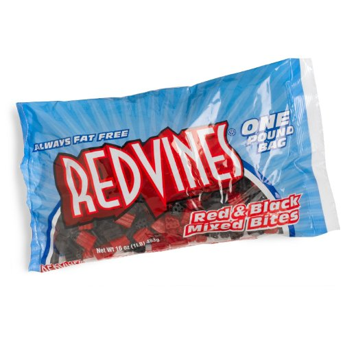 - Red Vines Red & Black Mixed, Bites Size, 16 oz