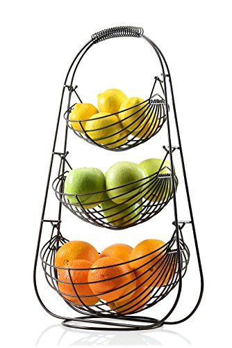 Sagler Bronze 3 Tier Fruit Basket
