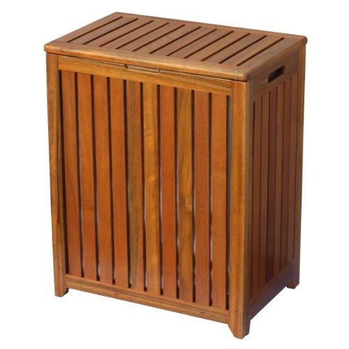 Oceanstar Solid Wood Spa Laundry Hamper
