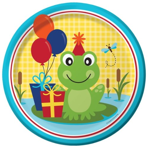 Creative Converting 8 Count Frog Pond Fun Dinner Paper ()