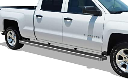 Fit 2019 Chevy Silverado Extended Cab 5/'/'Stainless Steel Step Bar Running Boards