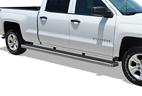 Gmc Sierra Running Boards >> Aps Wheel To Wheel Running Boards 5in Custom Fit 2007 2018 Chevy Silverado Gmc Sierra Crew Cab 6 5ft Bed 2019 2500 Hd 3500 Hd Exclude 07