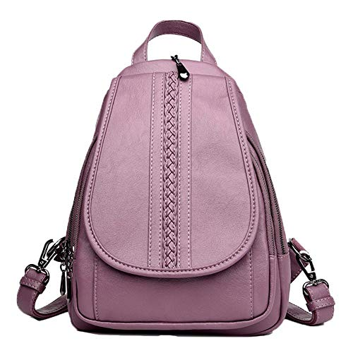 Loisirs PU À Sac violet Sac Lady Hydrofuge Tissage Cuir Portés Sport Dos À Mode Sacs Dos Bandoulière JIUSHIGUANG wTqB6zII