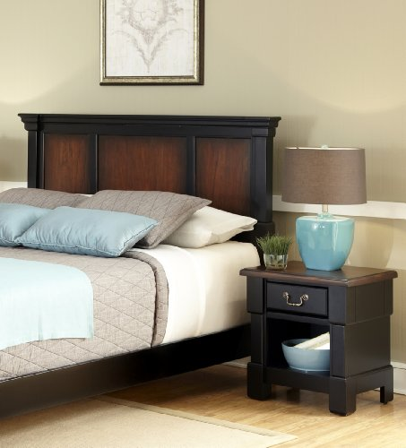 Home Styles 5521-6015 The Aspen Collection King/California King Headboard and Night Stand For Sale