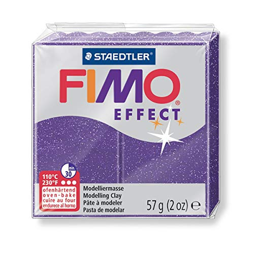 (FIMO Effect Purple with Glitter 57g, 8020-602)