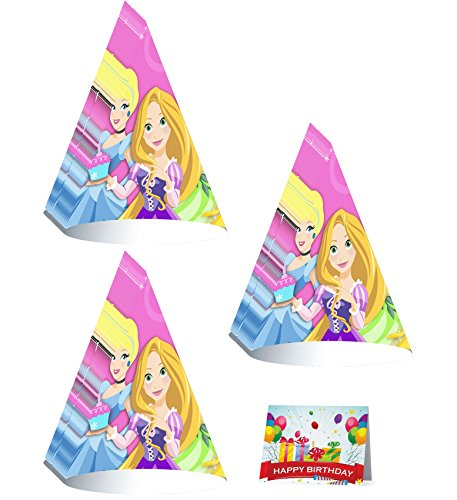 Princess 1st Birthday Party Cone Hats Bundle Pack ()