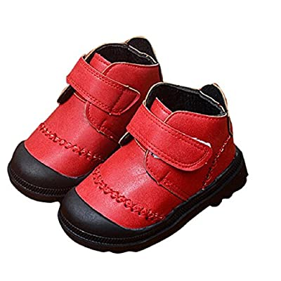 Lookatool Infant Toddler Baby Girls Boys Kids Thick Snow Boots Leather Shoes