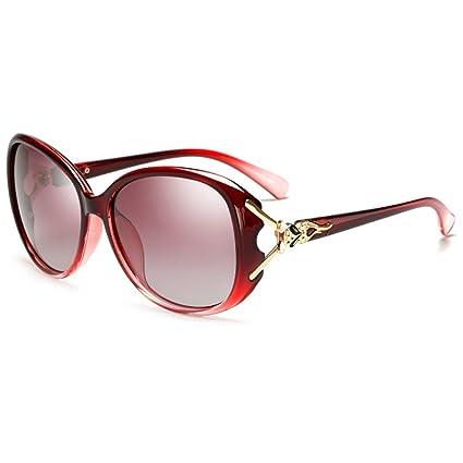 Gafas de Sol Femeninas Gafas polarizadas Conductor Espejo Marco Grande Gafas de Sol