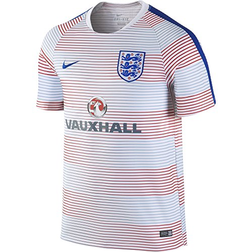 (Nike England Pre-Match Training II Soccer Jersey (Small) White )