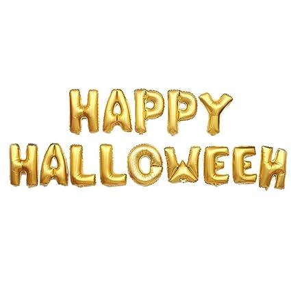 Ideapark Globos de la Fiesta de Halloween, Happy Halloween Letter Globos de Aluminio Banner Globos
