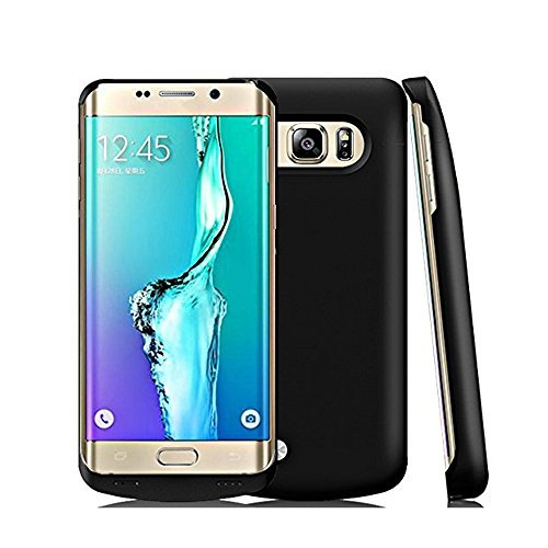 Galaxy S6 Edge Plus Battery Case,Elebase Slim External Battery Case,4200mAh Portable Backup Battery Charger, Cover Case for Samsung Galaxy S6 Edge Plus,Rechargeable Power Bank Case(black)