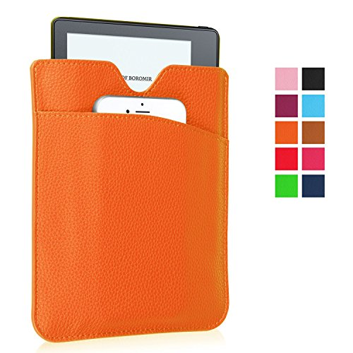 Price comparison product image SAVYOU Slim Fit Sleeve for Kindle Oasis Sleeve Case - PU Vegan Leather Pouch Cover Case for New Kindle Oasis (2016 Version), Kindle Paperwhite 1/2/3, Kindle 7th Generation, Kindle Voyage