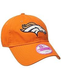 NFL Denver Broncos Women's Team Glisten LS 9TWENTY Adjustable Cap, One Size, Orange