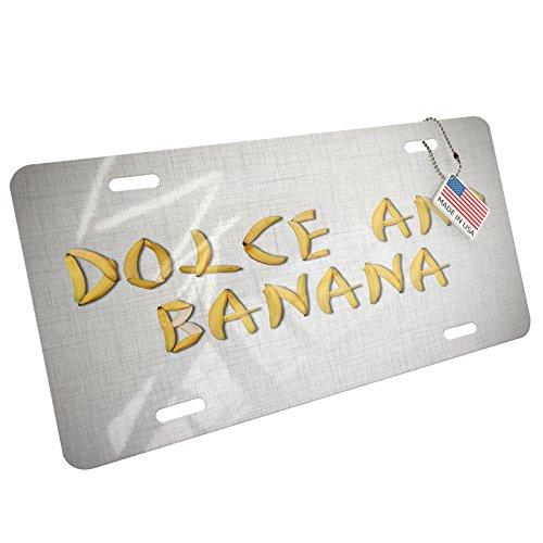 Metal License Plate Dolce And Banana Yellow Bananas - - Dolce Ga And