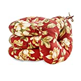 Greendale Home Fashions 18 in. Round Outdoor Bistro Chair Cushion (set of 4), Roma Floral