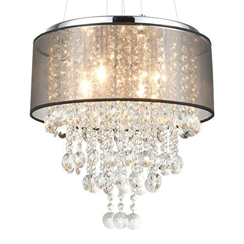 Light Fixtures Uae: DANXU LIGHTING Modern Drum Crystal Chandelier Pendant