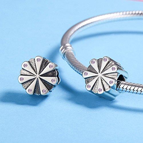 Everbling Brilliant Blossom 925 Sterling Silver Bead for European Charm Bracelet