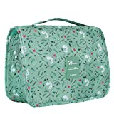 Multifunctional Make up Bag Brush Pouch Storage Toiletry Wash Bags Travel Cosmetic Bags Portable Travel Makeup Case Organizer For Women Girls Lady (Green)