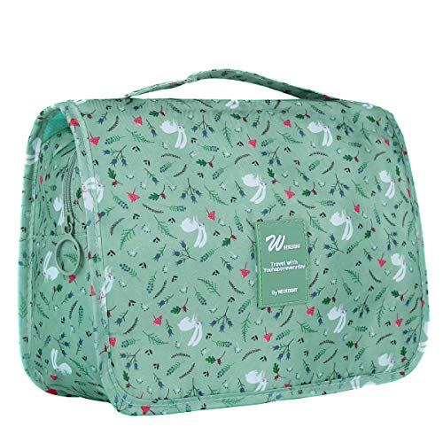 Multifunctional Make up Bag Brush Pouch Storage Toiletry Wash Bags Travel Cosmetic Bags Portable Travel Makeup Case Organizer For Women Girls Lady (Green) by Tbestmax (Image #5)