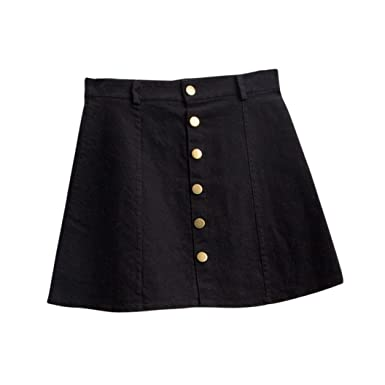 68a7f0582 TOPUNDER Waist Skirt Korean Style Girls Cowboy Mini Denim Short Skirt for  Women