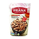 PRANA Organic Amandine Maple Almonds with Real Maple Syrup, Vegan, Non-GMO, 8 x 150g