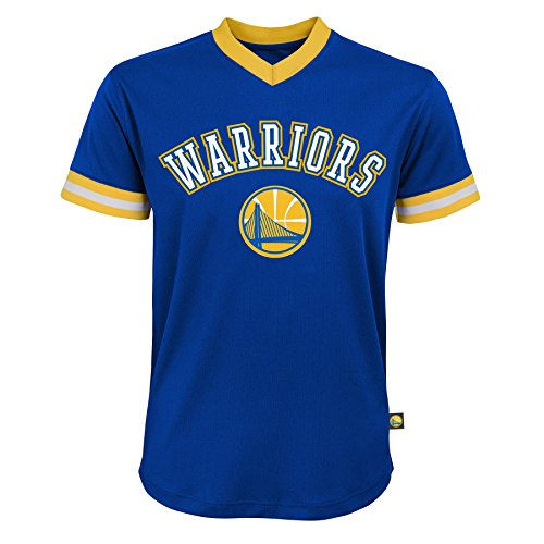 (NBA Youth Boys Stephen Curry Short Sleeve Player Mesh Fashion Top, Royal, Youth Small(8))