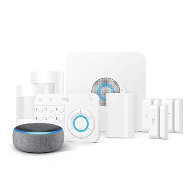 Ring Alarm 8 Piece Kit + Echo Dot (3rd Gen), Works with Alexa