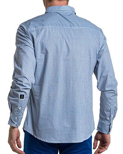 Bleu Homme Logo Motifs Et Brodé American People Chemise wxCSqEtA