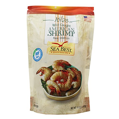 Sea Best 16/25 Count Raw Shell On Shrimp, 16 Ounce (Pack of 12) by Sea Best