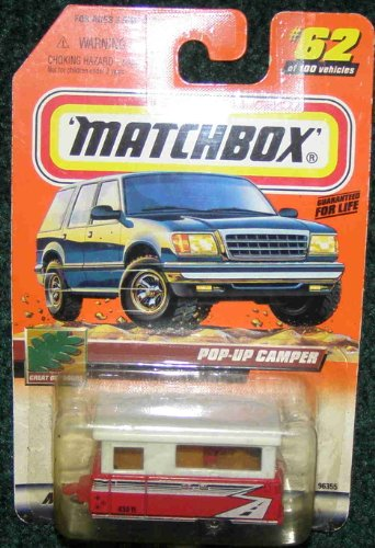 MATCHBOX 1999 #62 GREAT OUTDOORS SERIES RED AND WHITE POP-UP CAMPER (Pop Up Camper Toy compare prices)