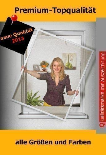 Insektenschutz Fenster Fliegengitter Fliegenschutzfenster WEISS 5er Set bis 130 x 150 cm Montagevideo PORTOFREI!!!
