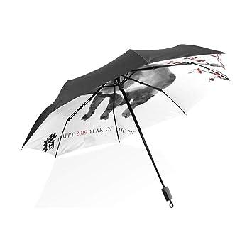 Tote Grande Paraguas Arte Atmosférico Antiguo Tinta Pincel Palabra ...