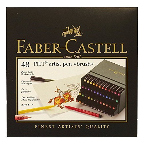 Faber-Castel Pitt Artist Brush Pens (48 Pack), Multicolor