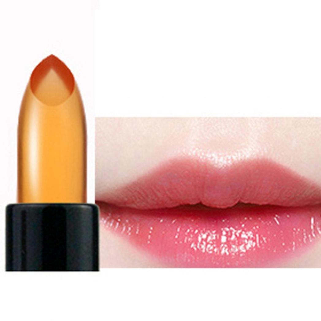 Hunputa Waterproof Jelly Lipstick Color Change Lip Gloss Moisturizing Makeup Tool (B)